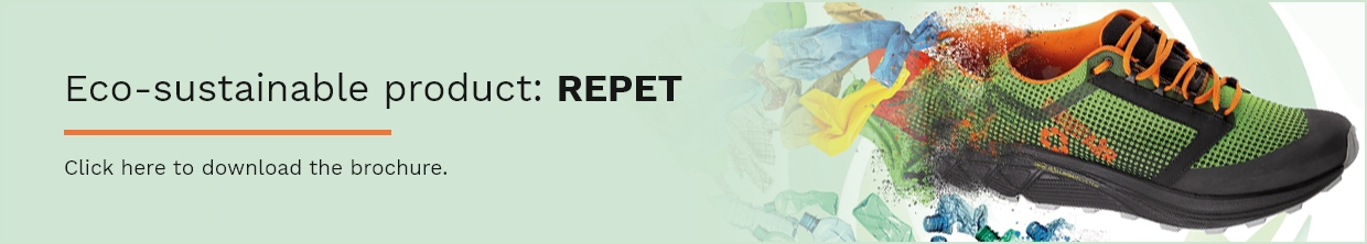 Banner eco-sustainable product: Repet